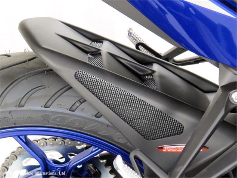 バイク用品 外装POWERBRONZE パワーブロンズ リアフェンダー マットBLK メッシュSLV YZF-R25 15-301-Y108-670 4548916568208取寄品 セール