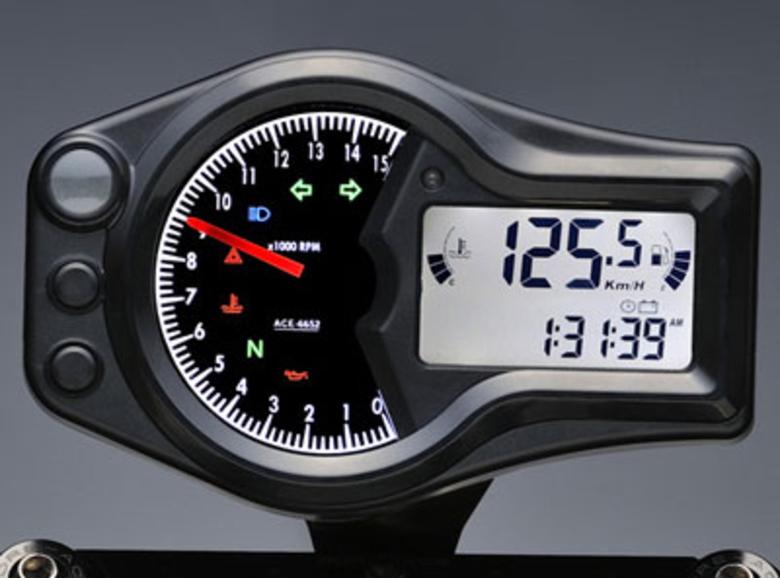 スーパーセールACEWELL エースウェル 多機能デジタルメーター ACE-6552《スピードメーター バイク用》