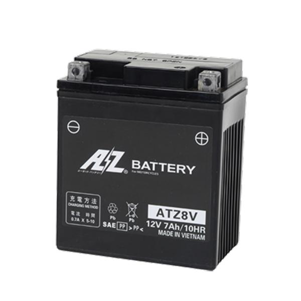 AZバッテリー ATZ8V 《AZ battery バイク用 液入り シールド型》