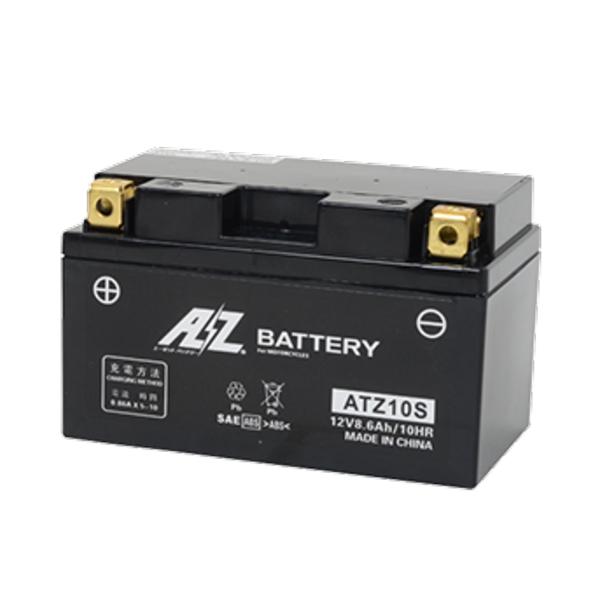 バイク用バッテリー 液入充電済 市場 AZバッテリー ATZ10S 《AZ battery バイク用 シールド型》 液入り 価格