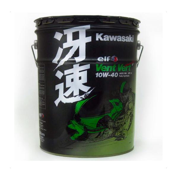 訳ありセール バイク 4サイクルオイルカワサキ ヴァン ヴェール 冴速 10W-40 20Lカワサキエルフ Kawasaki Vent Vert J0ELF-K010 ペール缶在庫あり