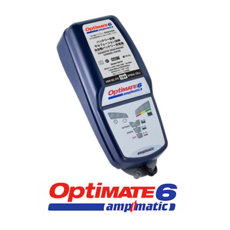 スーパーセール! 簡単全自動 高性能 バッテリー充電器 オプティメイト6 ver.2 OPTIMATE6 ケーブル付属 繋ぎっぱなし テックメイト バッテリー上がり チャージャー バイク用