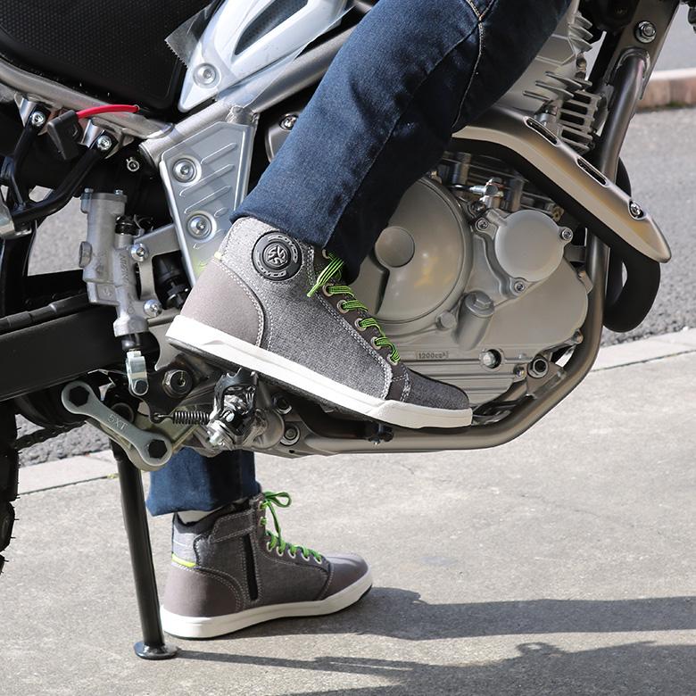 【送料無料】バイクシューズメンズレディースユニセックスライディングシューズブラックSCOYCOMT016-2バイク用品バイク用シューズ普段履き靴スニーカーサイドジップサイドジッパープロテクターバイカーライダー男性女性おしゃれかっこいい