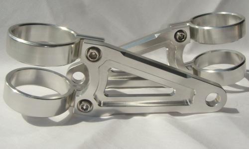 バイク用品 電装系SHABONDAMA しゃぼん玉 シャボンダマ ビレットヘッドライトステー φ43 SLV B-TYPE 汎用 4548664869374取寄品 セール