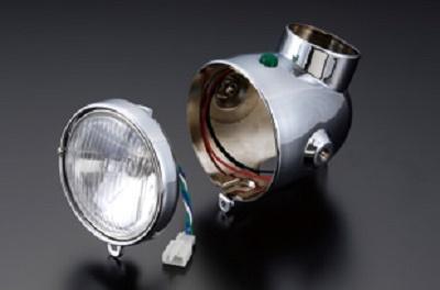 バイク用品 電装系SHIFTUP シフトアップ ネオクラシック ヘッドライトASSY RED モンキー205020-02 4582246487808取寄品 セール