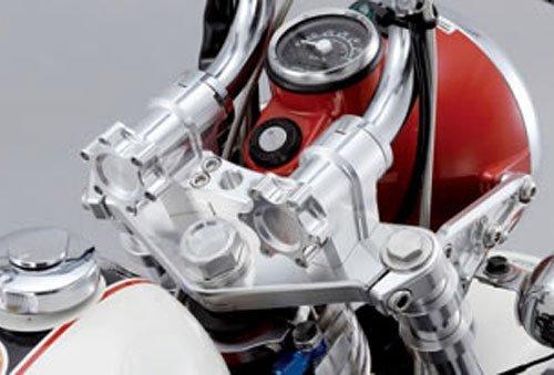 バイク用品 ハンドルSHIFTUP シフトアップ ハンドルビレットブラケット ノブセット SLV SLV モンキー205032-33 4582246489116取寄品 セール