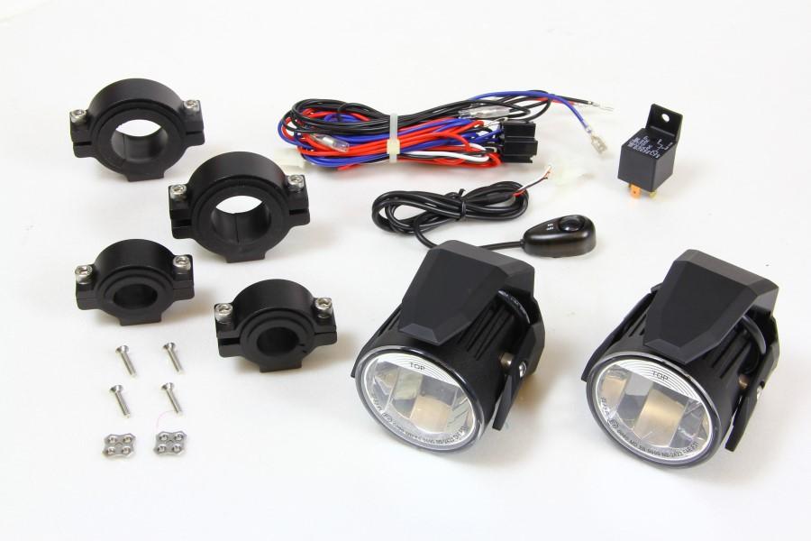 バイク用品 電装系SIRIUS シリウス LED FOG LAMP SET ブラック ユニバーサルSINS-2423KB 4548664979288取寄品 セール