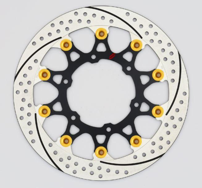バイク用品 ブレーキ クラッチSUNSTAR BRAKE サンスター プレミアムR スリット&ホール L GSX-S1000(φ310)ピン:ゴールドEL219FL-GD 4589719002438取寄品 セール
