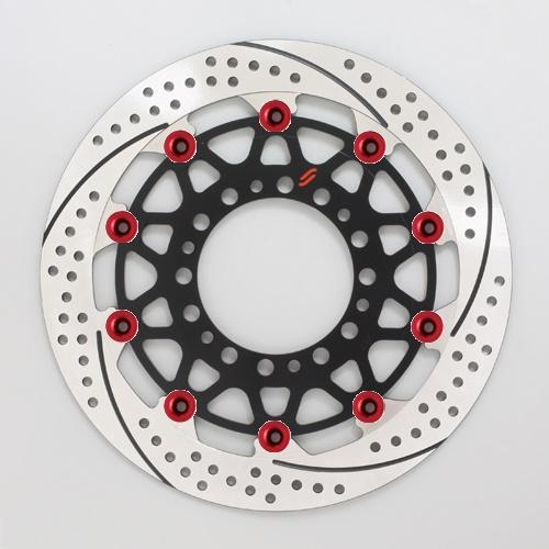 バイク用品 ブレーキ クラッチSUNSTAR BRAKE サンスター プレミアムR スリット&ホール L GSX-R1000(09-16)(φ310)ピン:レッドEM212FL-RD 4589719012673取寄品 セール