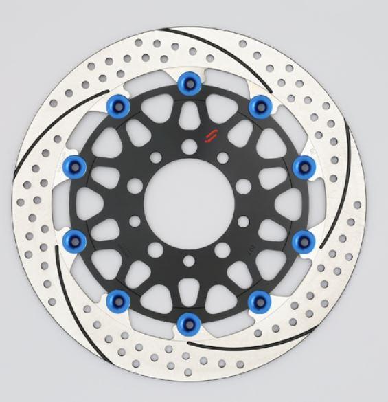 バイク用品 ブレーキ クラッチSUNSTAR BRAKE サンスター プレミアムR スリット&ホール R φ310 GSX1100S ピン:ブルーEM213WR-BL 4589719023907取寄品 セール