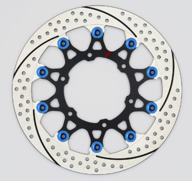 バイク用品 ブレーキ クラッチSUNSTAR BRAKE サンスター プレミアムR スリット&ホール L GSX-S1000(φ310)ピン:ブルーEL239FL-BL 4589719024393取寄品 セール