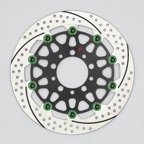 バイク用品 ブレーキ クラッチSUNSTAR BRAKE サンスター プレミアムR スリット&ホール L ZRX1200DAEG(φ310)ピン:グリーンEM207FL-GR 4589719033630取寄品 セール