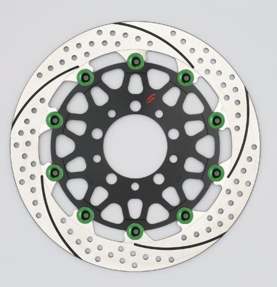 バイク用品 ブレーキ クラッチSUNSTAR BRAKE サンスター プレミアムR スリット&ホール L φ310 GSX1100S ピン:グリーンEM213FL-GR 4589719034835取寄品 セール
