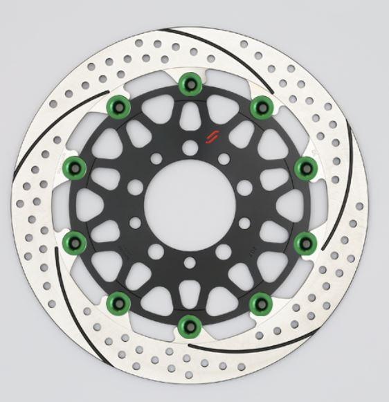 バイク用品 ブレーキ クラッチSUNSTAR BRAKE サンスター プレミアムR スリット&ホール R φ310 GSX1100S ピン:グリーンEM213WR-GR 4589719034866取寄品 セール