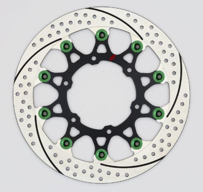 バイク用品 ブレーキ クラッチSUNSTAR BRAKE サンスター プレミアムR スリット&ホール R GSX-S1000(φ310)ピン:グリーンEL219FR-GR 4589719035320取寄品 セール