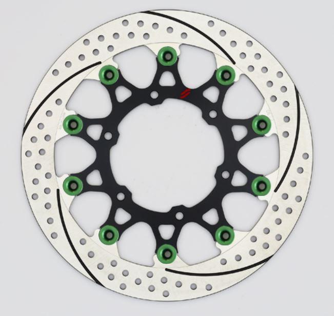 バイク用品 ブレーキ クラッチSUNSTAR BRAKE サンスター プレミアムR スリット&ホール L GSX-S1000(φ310)ピン:グリーンEL219WL-GR 4589719035337取寄品 セール