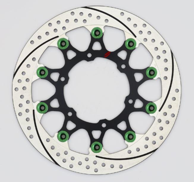 バイク用品 ブレーキ クラッチSUNSTAR BRAKE サンスター プレミアムR スリット&ホール R GSX-S1000(φ310)ピン:グリーンEL239FR-GR 4589719035368取寄品 セール