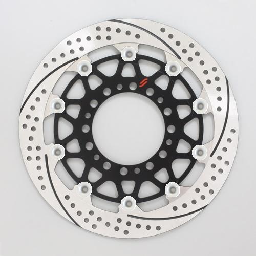 バイク用品 ブレーキ クラッチSUNSTAR BRAKE サンスター プレミアムR スリット&ホール L GSX-R1000(09-16)(φ310)ピン:シルバーEM212FL-SV 4589719045558取寄品 セール