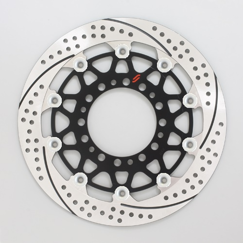 バイク用品 ブレーキ クラッチSUNSTAR BRAKE サンスター プレミアムR スリット&ホール R GSX-R1000(09-16)(φ310)ピン:シルバーEM212FR-SV 4589719045565取寄品 セール