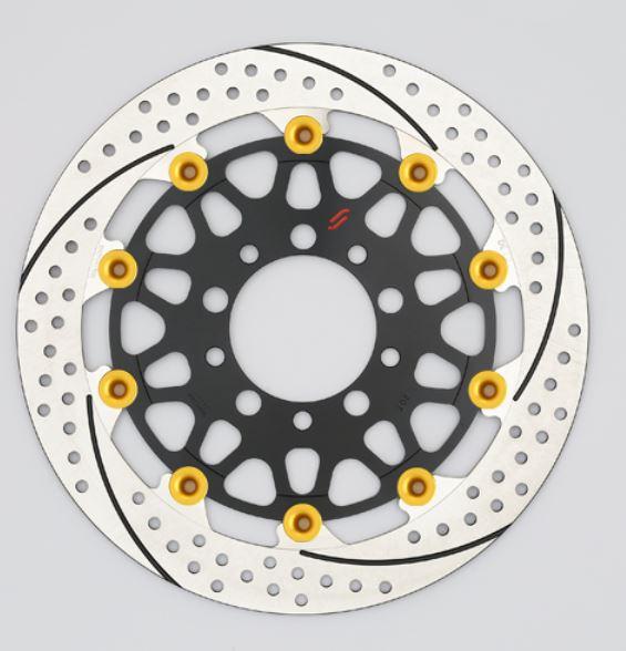 バイク用品 ブレーキ クラッチSUNSTAR BRAKE サンスター プレミアムR 5.5mm 右 φ320 ピン:ゴールドEM121FR-GD 4589718995489取寄品 セール