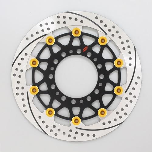 バイク用品 ブレーキ クラッチSUNSTAR BRAKE サンスター プレミアムR スリット&ホール R GSX-R1000(09-16)(φ310)ピン:ゴールドEM212WR-GD 4589719001745取寄品 セール