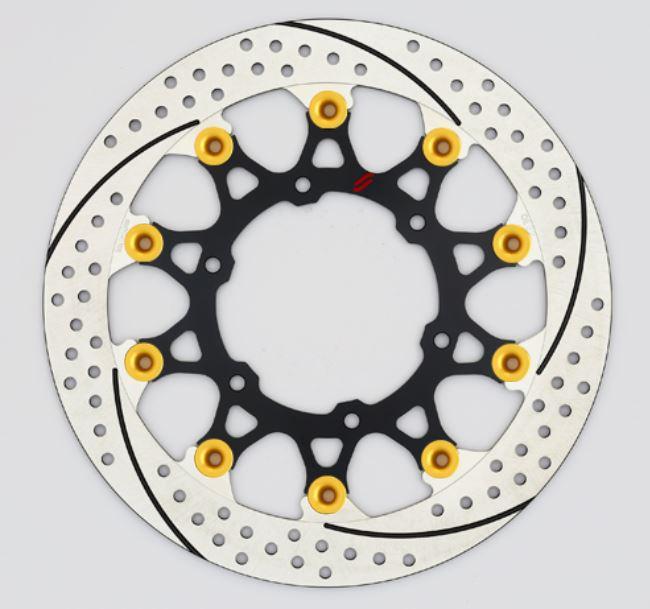 バイク用品 ブレーキ クラッチSUNSTAR BRAKE サンスター プレミアムR スリット&ホール R R1200GS(水冷)φ305ピン:ゴールドEL702WR-GD 4589719003831取寄品 セール