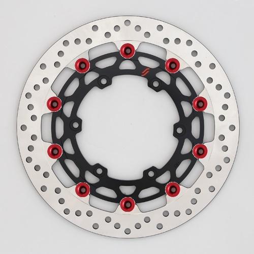 バイク用品 ブレーキ クラッチSUNSTAR BRAKE サンスター プレミアムR ホール MT-01(φ320)ピン:レッドLM103W-RD 4589719007228取寄品 セール