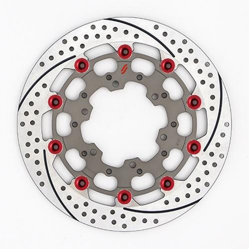 バイク用品 ブレーキ クラッチSUNSTAR BRAKE サンスター プレミアムR スリット&ホール R GSX-R1000(09-16)(φ310)ピン:レッドES212FR-RD 4589719012765取寄品 セール