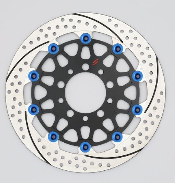 バイク用品 ブレーキ クラッチSUNSTAR BRAKE サンスター プレミアムR 5.5mm 左 YZF-R1M φ320 ピン:ブルーEM127FL-BL 4589719019191取寄品 セール