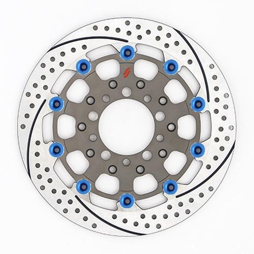 バイク用品 ブレーキ クラッチSUNSTAR BRAKE サンスター プレミアムR スリット&ホール L ZRX1200DAEG(φ310)ピン:ブルーES207FL-BL 4589719022757取寄品 セール