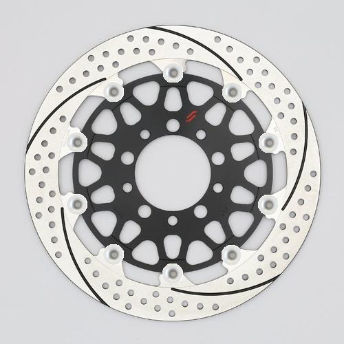 バイク用品 ブレーキ クラッチSUNSTAR BRAKE サンスター プレミアムR スリット&ホール R MT-01(φ320)ピン:シルバーEM103FR-SV 4589719039885取寄品 セール