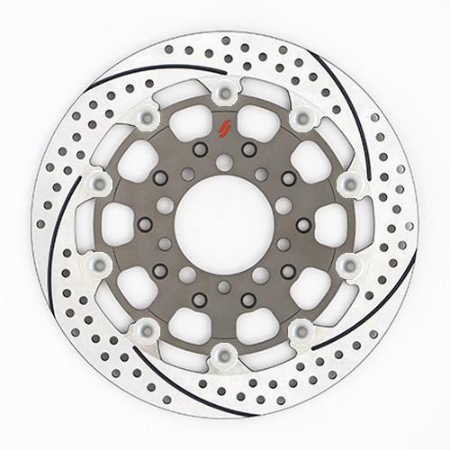 バイク用品 ブレーキ クラッチSUNSTAR BRAKE サンスター プレミアムR スリット&ホール L ZRX1200DAEG(φ310)ピン:シルバーES207WL-SV 4589719044698取寄品 セール