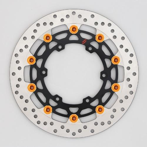 バイク用品 ブレーキ クラッチSUNSTAR BRAKE サンスター プレミアムR ホール MT-01(φ320)ピン:オレンジLM103W-OR 4589719051061取寄品 セール
