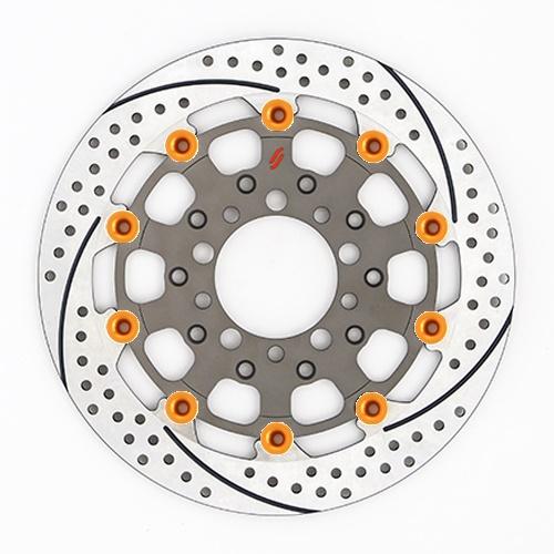 バイク用品 ブレーキ クラッチSUNSTAR BRAKE サンスター プレミアムR スリット&ホール L ZRX1200DAEG(φ310)ピン:オレンジES207FL-OR 4589719055632取寄品 セール