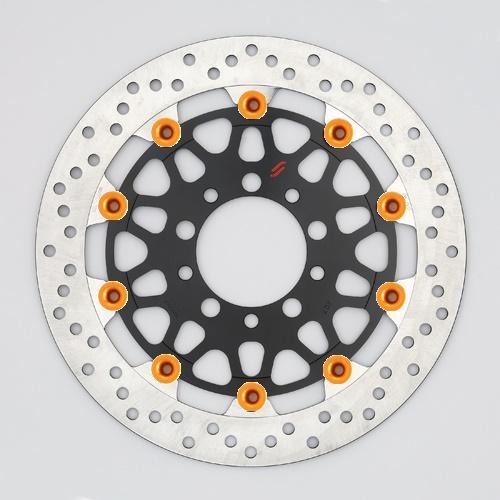 バイク用品 ブレーキ クラッチSUNSTAR BRAKE サンスター プレミアムRホール φ310 ZRX1200DAEG ピン:オレンジLM207W-OR 4589719055724取寄品 セール