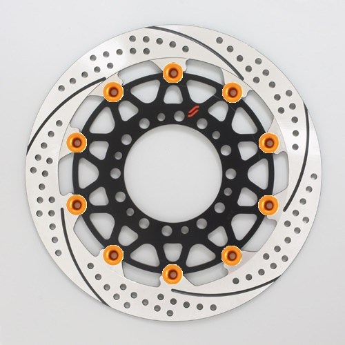 バイク用品 ブレーキ クラッチSUNSTAR BRAKE サンスター プレミアムR スリット&ホール L GSX-R1000(09-16)(φ310)ピン:オレンジEM212WL-OR 4589719056530取寄品 セール
