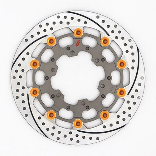 バイク用品 ブレーキ クラッチSUNSTAR BRAKE サンスター プレミアムR スリット&ホール R GSX-R1000(09-16)(φ310)ピン:オレンジES212WR-OR 4589719056622取寄品 セール
