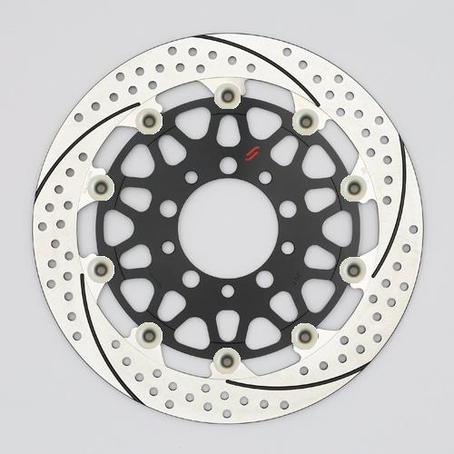 バイク用品 ブレーキ クラッチSUNSTAR BRAKE サンスター プレミアムR スリット&ホール R MT-01(φ320)ピン:ハードアルマイトEM103FR-HA 4589719061800取寄品 セール