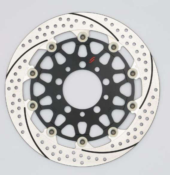 バイク用品 ブレーキ クラッチSUNSTAR BRAKE サンスター プレミアムR 5.5mm 左 YZF-R1M φ320 ピン:ハードアルマイトEM127FL-HA 4589719063033取寄品 セール