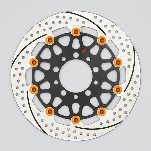 バイク用品 ブレーキ クラッチSUNSTAR BRAKE サンスター プレミアムR スリット&ホール L MT-01(φ320)ピン:オレンジEM103FL-OR 4589719050835取寄品 セール