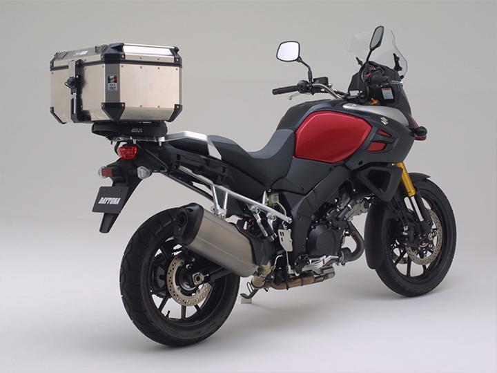 【GIVI モノキー用キャリアセット】V-STROM1000 ABS(14)専用 スペシャルラックSR3105+モノキーケース用付属モノキーベース(M7)のセットパーツ【91643】