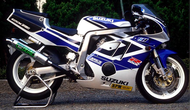 【RPM】【アールピーエム】 SUZUKI GSXR400R 90-95/GK76A用 RPM DUAL RHC/アルミ【4011】 フルエキゾーストマフラー