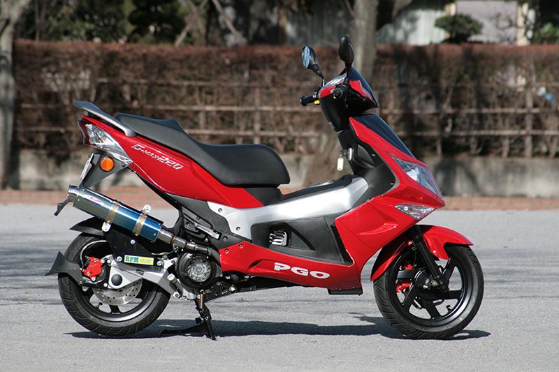 【RPM】【アールピーエム】 PGO G-MAX200/G-MAX220 RFVM2UCC用 80D-RAPTOR Titan SUS/BlueTitan【6014z】 フルエキゾーストマフラー