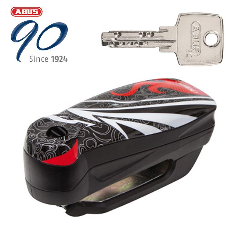 【はとやのおススメ防犯】【ABUS(アブス)(アバス)】【防犯】Alarm Brake Disc Locks Detecto 7000 RS1 アラームディスクロック【Detecto 7000 RS1 FLAME BLACK】