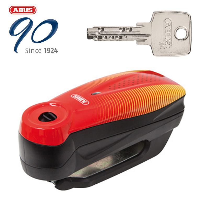 取寄品 正規認証品!新規格 防犯 安全 安心 ソニックレッド 限定特価 ABUS はとやのおすすめ防犯 Alarm Brake アラームディスクロック Locks RED 4003318041402 7000 Disc RS1 Detecto テレビで話題 SONIC