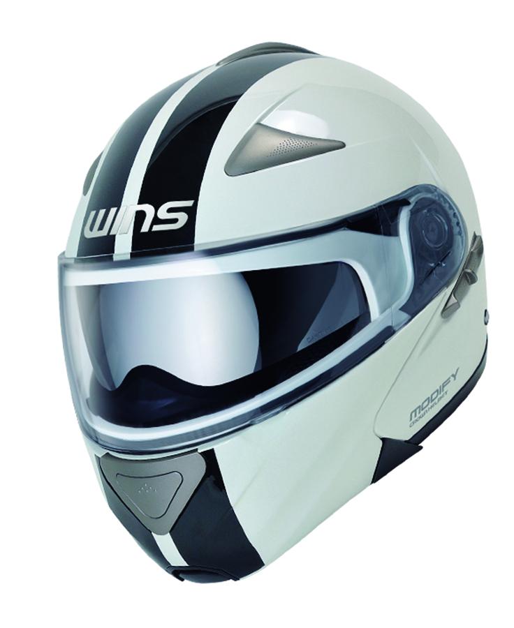 バイク用品 ヘルメット ヘルメットウインズ WINS MODIFY GT STRIPE ホワイトxブラック L4560385761379 4560385761379取寄品 スーパーセール