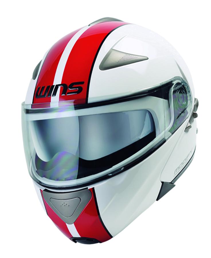 バイク用品 ヘルメット ヘルメットウインズ WINS MODIFY GT STRIPE ホワイトxレッド XL4560385765216 4560385765216取寄品 スーパーセール