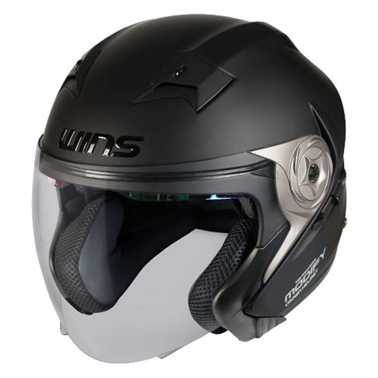 バイク用品 ヘルメット ヘルメットウインズ WINS MODIFY X JET マットブラック L4560385765667 4560385765667取寄品 スーパーセール