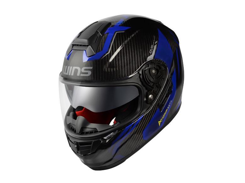 バイク用品 ヘルメット ヘルメットウインズ WINS A-FORCE RS FLASH カーボン×アルマイトブルー #M-Slim4560385768378 4560385768378取寄品
