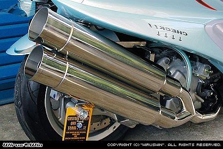 バイク用品 マフラー 4ストフルエキゾーストマフラーウイルズウィン WirusWin スタイリッシュツインマフラー バズーカー MAJESTY250(5GM SJ)112-14-02 4547424545862取寄品 スーパーセール